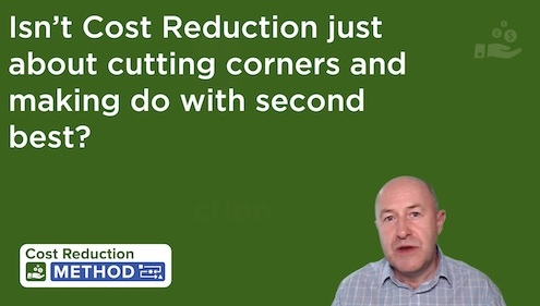 Tim Lawson answers cost reduction questions